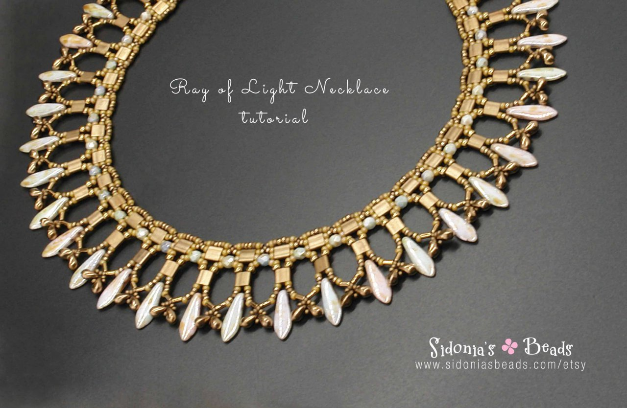 Ray Of Light Necklace TUTORIAL - Sidonia\'s Beads