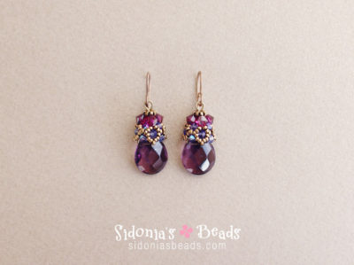 Beaded Cap Earrings - Beading Tutorial