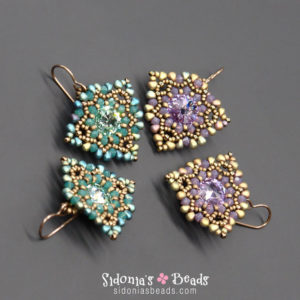 Fanned Away Earringsg - Beading Tutorial