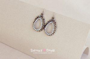 Open Teardrops Earrings - Beading Tutorial