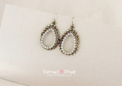 Open Teardrops Earrings - Beading Tutorial