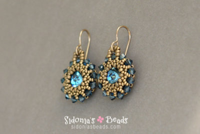Rivoli Earrings - Beading Tutorial