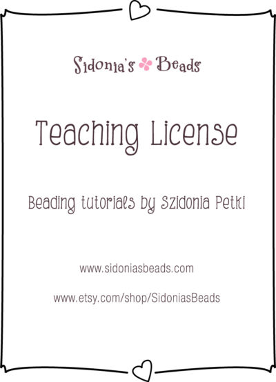 Teaching license for Sidonia's designs