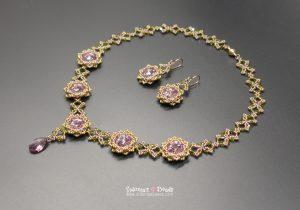 Jardin de Fleurs Necklace & Earrings Beading Tutorial