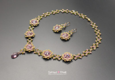 Jardin de Fleurs Necklace & Earrings Beading Tutorial