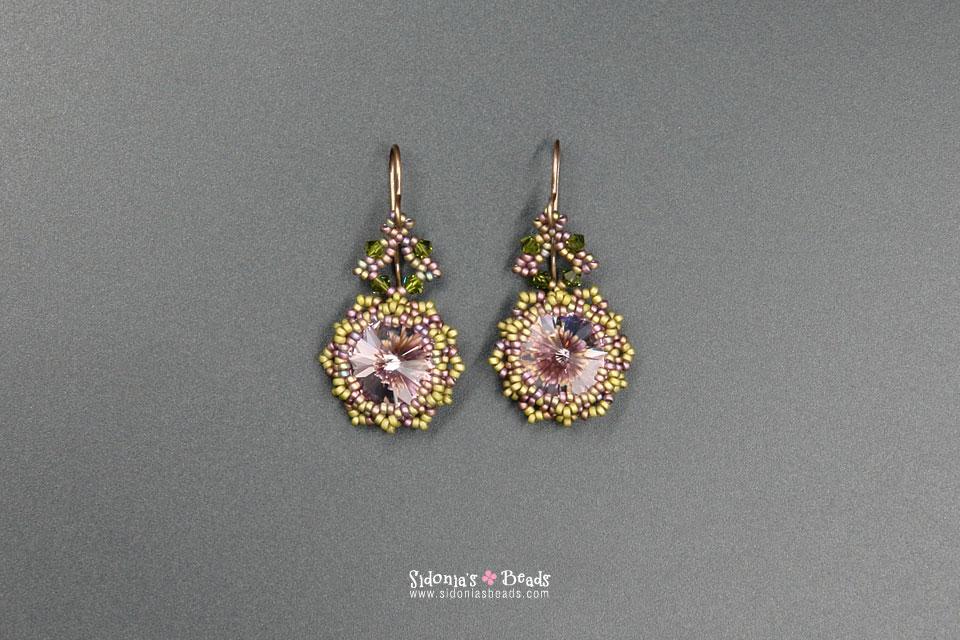 Jardin De Fleurs Necklace Earrings Tutorial Sidonia 39 S Beads