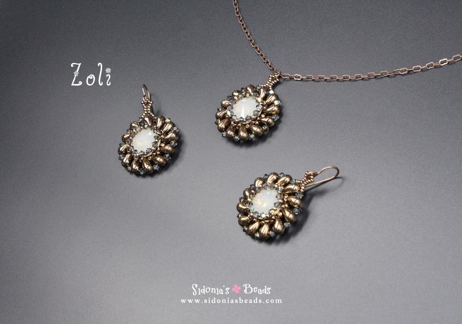 Tutorial zoli pendant earrings sidonias beads tutorial zoli pendant earrings aloadofball Choice Image