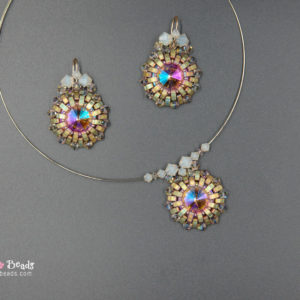 Sunset Pendant and Earrings - Beading Tutorial