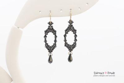 alice's earrings beading tutorial