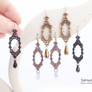 alice's earrings beading tutorial